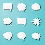 Speech bubble paper art Stock Photos