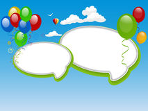 Speech bubble background Royalty Free Stock Photos