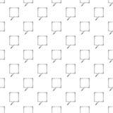 Speech bubble pattern seamless Stock Photo