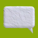 Speech bubble of plasticine or clay Royalty Free Stock Photography