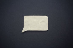 Speech bubble of plasticine or clay. Royalty Free Stock Images
