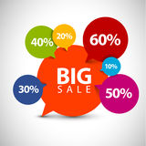Speech bubble pointer for sale item Stock Images