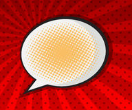 Speech bubble pop art background Stock Photos