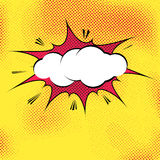 Speech bubble pop-art splash explosion template Royalty Free Stock Photography