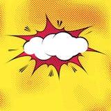 Speech bubble pop-art splash explosion template Royalty Free Stock Photography