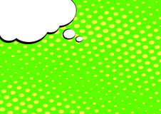 Speech Bubble on Pop Art Style Background. Dotted background vector illustration vector illustration
