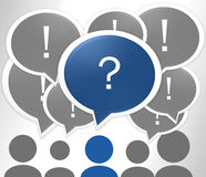 Speech bubble. Question mark blue Royalty Free Stock Photography