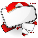 Speech bubble with red arrow Stock Photography