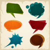 Speech bubble in retro style Stock Images
