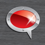 Speech bubble on seamless background. Speech bubble on metal plate with seamless background Royalty Free Stock Images
