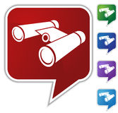 Speech Bubble Set - Binoculars Royalty Free Stock Photos