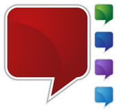 Speech Bubble Set - Blank Royalty Free Stock Photo