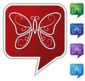 Speech Bubble Set - Butterfly vector illustration