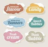 Speech bubble set. Cloud vector - Speech bubble label set Stock Photos
