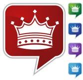 Speech Bubble Set - Crown vector illustration