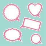 Speech bubble set. Design elements. Royalty Free Stock Photos