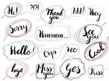 Speech bubble set isolated. Most common used words and phrases for Internet communication,vector illustration Royalty Free Stock Photo