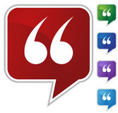 Speech Bubble Set - Quotes Royalty Free Stock Images