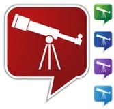 Speech Bubble Set - Telescope Stock Photography