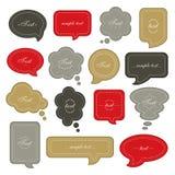 Speech bubble set.  Vector Illustration Stock Images