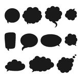 Speech bubble set. Vector isolated speech bubble set. White speech bubble on grey background with shadows Stock Photos