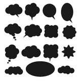 Speech bubble set. Vector isolated speech bubble set. White speech bubble on grey background with shadows Royalty Free Stock Photography
