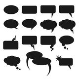 Speech bubble set. Vector isolated speech bubble set. White speech bubble on grey background with shadows Stock Photography