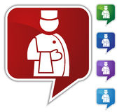 Speech Bubble Set - Waiter Royalty Free Stock Photo