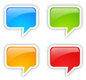 Speech bubble set Royalty Free Stock Images