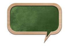 Speech bubble shaped Blackboard Stock Images