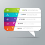 Speech bubble shaped infographic design. 5 options business. Concept. Vector illustration Stock Photo