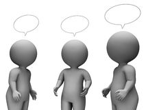 Speech Bubble Shows Render Chatting And Speaking 3d Rendering Royalty Free Stock Image