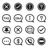 Speech bubble silhouette icons, CHAT message Vector illustration Stock Images