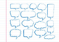 Speech Bubble Sketch hand drawn bubble speech Royalty Free Stock Photo