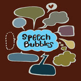 Speech Bubble Sketch hand drawn bubble speech. Vector Collection of Hand Drawn Doodle Style Speech Bubbles Royalty Free Stock Photography