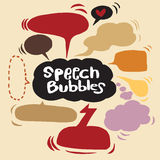 Speech Bubble Sketch hand drawn bubble speech. Vector Collection of Hand Drawn Doodle Style Speech Bubbles Stock Photo