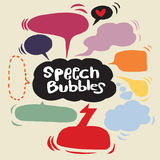 Speech Bubble Sketch hand drawn bubble speech. Vector Collection of Hand Drawn Doodle Style Speech Bubbles Royalty Free Stock Photo