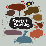 Speech Bubble Sketch hand drawn bubble speech. Vector Collection of Hand Drawn Doodle Style Speech Bubbles Royalty Free Stock Images