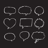 Speech Bubble Sketch hand drawn. An images of Speech Bubble Sketch hand drawn Royalty Free Stock Images