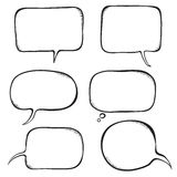 Speech bubble. Sketch vector illustration Stock Photo