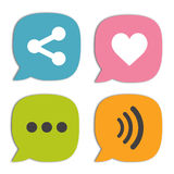 Speech bubble social media and chat Royalty Free Stock Photos