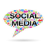 Speech Bubble Of Social Media Icons Stock Photography