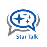 Speech bubble star talk icon. Illustration for the web Royalty Free Stock Photo