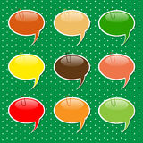 Speech Bubble  Sticker Shapes in Pastel Colors Stock Image