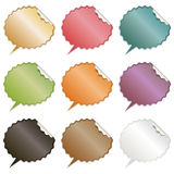 Speech bubble stickers Royalty Free Stock Images