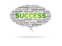 Speech Bubble - Success. Speech bubble with the word success on white background Royalty Free Stock Photography