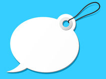 Speech bubble tag Stock Photo