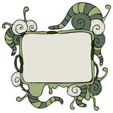 Speech bubble with tentacles Stock Photography