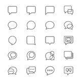 Speech bubble thin icons. Simple, Clear and sharp. Easy to resize Royalty Free Stock Images