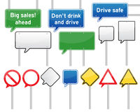 Speech bubble traffic signs Royalty Free Stock Images
